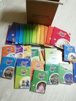 colección libros y DVDs los lunnis