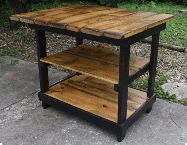 Isla de cocina mesa auxiliar madera de palets de segunda mano por ...