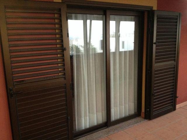Puertas terraza cristal y contraventanas aluminio de - Puertas terraza aluminio ...