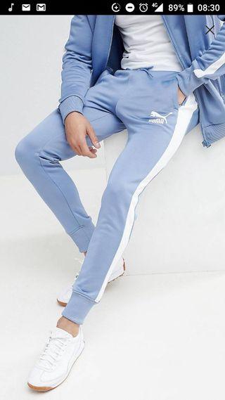 pantalones joggers puma azules talla s