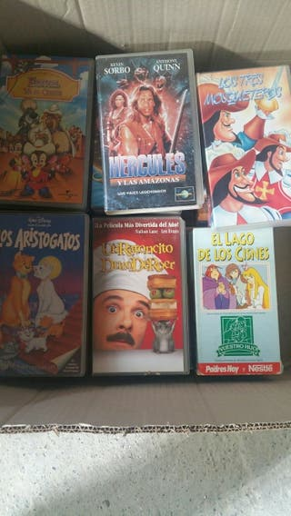 Varias cintas de vídeo