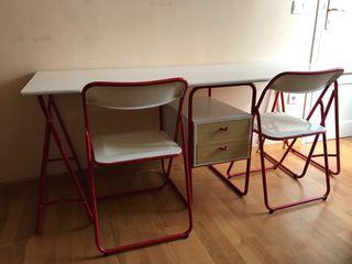 Mesa escritorio / estudio doble