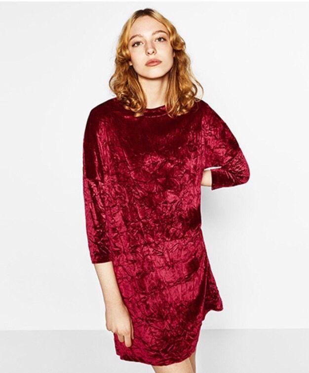 ahorre hasta 60% fuerte embalaje precio bajo Vestido terciopelo Zara - S de segunda mano por 8 € en A ...