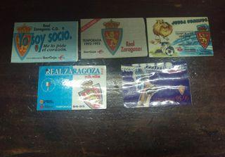 lote carnets fútbol Real Zaragoza