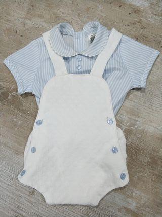 camisa y pelele bebe