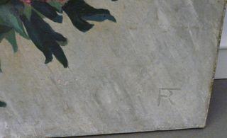 Huile sur toile fleurs nature morte