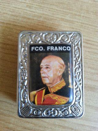 antigua caja de cerillas de franco