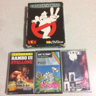4 Juegos Spectrum, Pssst, Rambo.