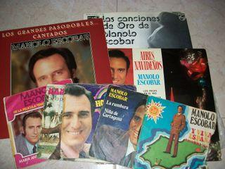 Lote discos vinilo y 45rpm. Manolo Escobar