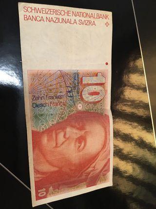 Billete 10 francos suizos