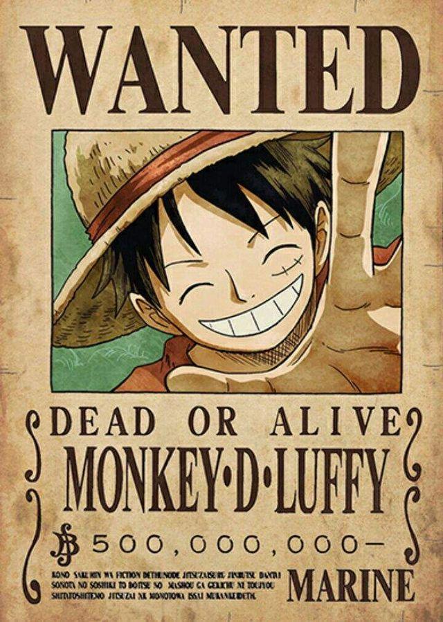 Poster One Piece WANTED Nueva recompensa Luffy de segunda mano por 8 ... 81a5196a962a