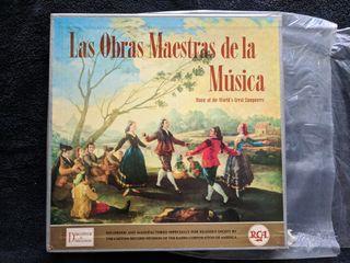 """Discos de vinilo x10 """"Obras maestras de la música"""""""