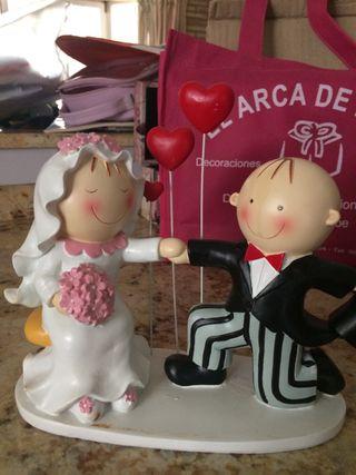 Figura recién casados x tarta boda nueva