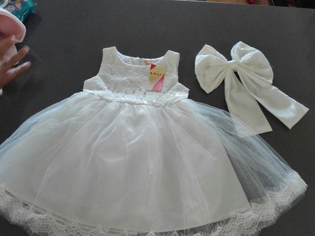 f91aeb00a Vestido ceremonia bautizo niña nuevo. Sin estrenar de segunda mano ...