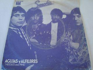 """SMOKIE-.AGUJAS Y ALFILERES-SINGLE VINILO 7""""."""