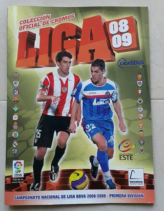 Álbum Liga Este 08-09 + 8 cromos