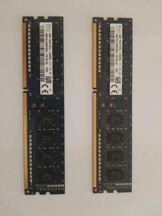 2 Memorias RAM de 4GB DDR3L 1,35v HP