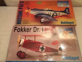 Maquetas de aviones en madera