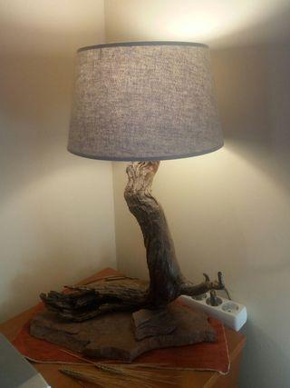 lampara de mesa rinconera rustica