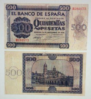 Billete 500 pesetas 1936