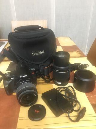 Camara reflex sony alpha 230