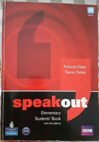 libro inglés + work book : speak out