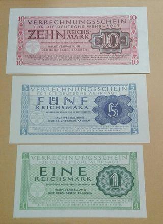 Billetes Alemanes 2 guerra mundial