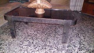 mesa comedor baja negra
