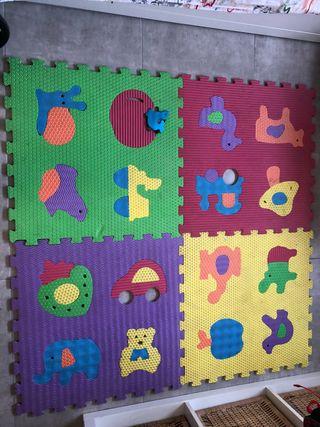 ce861a9dec9 Alfombra para beb goma eva de segunda mano en wallapop Alfombra puzzle bebe