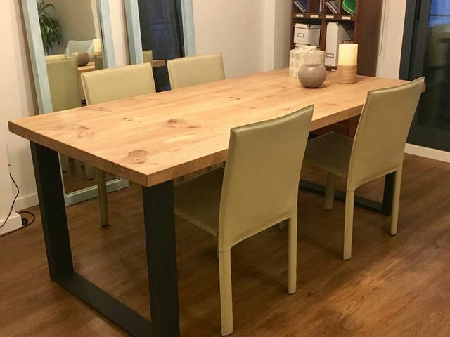 Mesa comedor madera maciza de segunda mano por 500 € en Paterna en ...