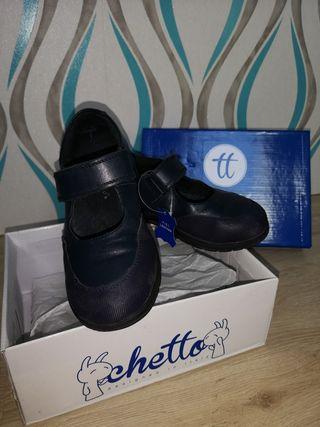 Zapatos colegiales niña piel