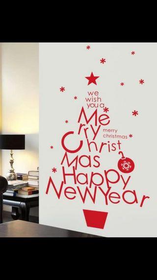 Vinilo decorativo árbol navidad