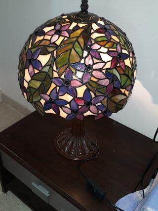 lámpara de vidriera