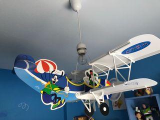 Lámpara avión mickey