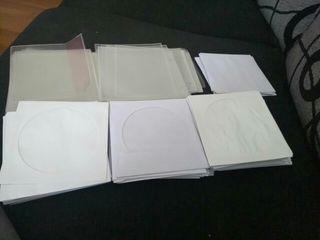 250 fundas dvd cd. papel y plastico