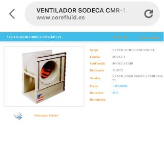 Turbina extractor sodeca cmr-1031-2t