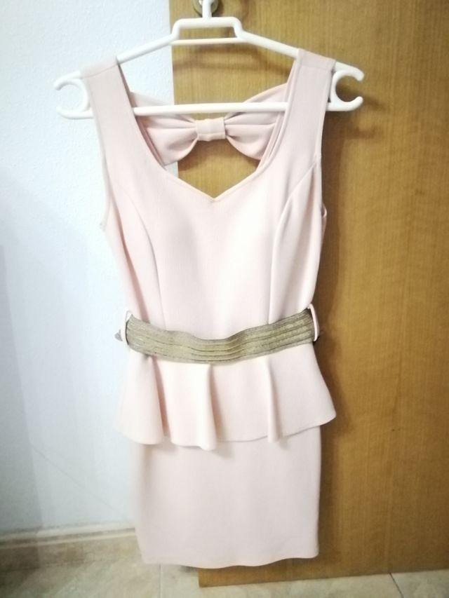 Vestido Corto Color Rosa Palo De Segunda Mano Por 6 En