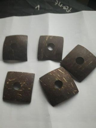 piezas de coco para collares o manualidades