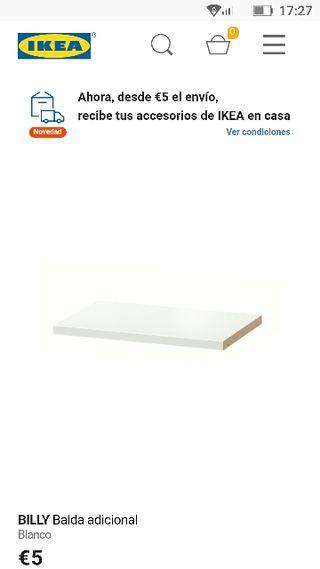 1 baldas blancas BILLY Ikea