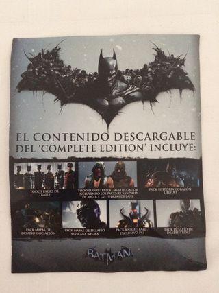 Código complete Edition batman origins