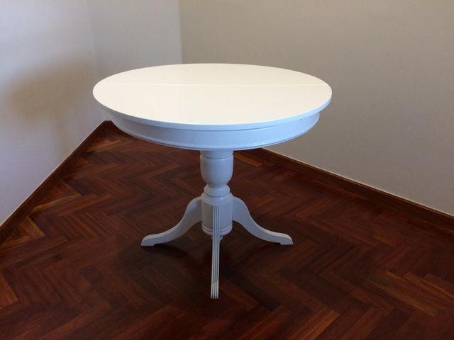 Mesa comedor redonda extensible blanca de segunda mano por 175 € en ...