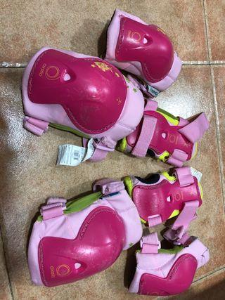 Protecciones patines niña