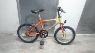 Bicicleta 16'' niños entre 5 y 7 años