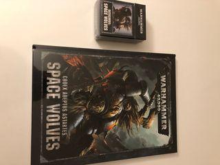 Pack libro de ejército y cartas Lobos Espaciales