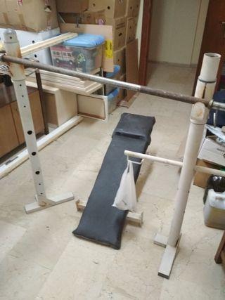 banca gym mancuernas y pesas