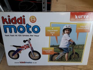 bicicleta madera kiddimoto red tyre kurve