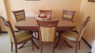 Mesa comedor con 6 sillas de segunda mano por 425 € en Huelva en ...