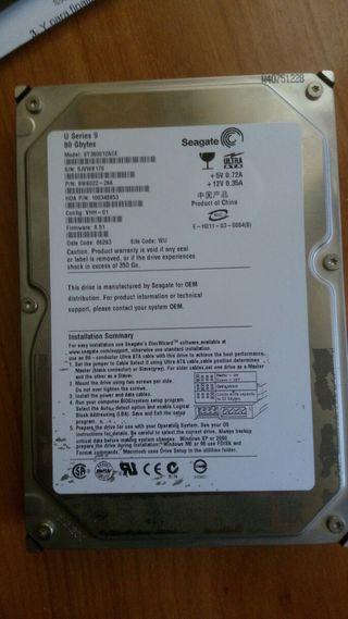 disco duro ide 3.5' ,Seagate 80gb