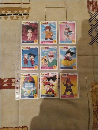 Dragon Ball Z Combat Cards de Panini. Años 90