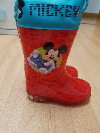 botas de agua mickey talla 22